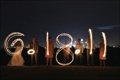 Wedding date with sparklers!