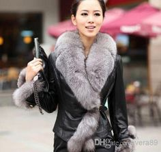 Wholesale HOT SALE !2014 Winter New Products Female Fur Coat Slim Full Sleeve Leather Jackets Blazer Women faux fox fur Outerwear, Free shipping, $36.65/Piece | DHgate Mobile