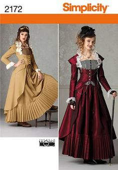 Simplicity pattern 2172: Misses Costume. Victorian-era dress.....this will be my Halloween costume this year!!