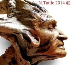tree spirit carving | Details about TREE CARVING ORIGINAL WOOD SPIRIT FANTASY MYTHIC WIZARD ...