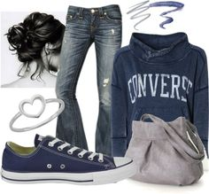 """Converse"" by sandbunny on Polyvore"