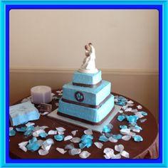 Blue wedding cake!