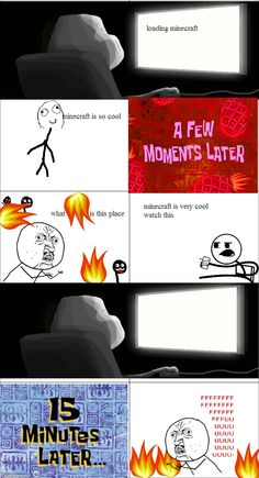 Minecraft Comic Minecraft Comics, Cool Minecraft, Minecraft Memes, Dont Hug Me, Rage Comics, Video Game, Funny Memes, Boards, Club