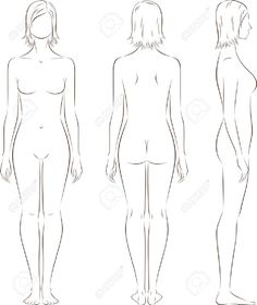 20068421-illustration-of-women-s-figure-Front-back-side-views-Silhouettes-Stock-Vector.jpg (1094×1300)