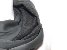 2 luxury fabrics, Cashmere Silk Wool Infinity scarf, mens woman, loop, gray  patchwork, herringbone chevron, fabric light soft. Echarpe SnoodGris ... 8ce1a63c0a3