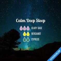 Calm Deep Sleep - Essential Oil Diffuser Blend #aromatherapysleepdiffuser #aromatherapysleepblends