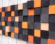Wood Wall Art Reclaimed Wood Sculpture by WallWooden on Etsy