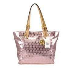 michael kors outlet Jet Set Mirror Metallic Large Pink Tote www.ecomsite103.com