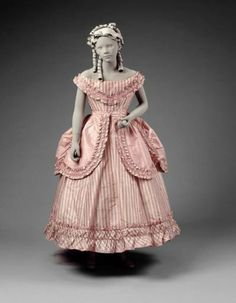 Girl's party dress, ca. 1865 -70