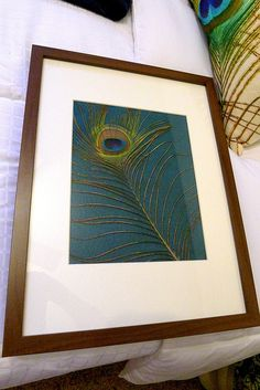 Peacock Feather Framed by meredithheard, via Flickr
