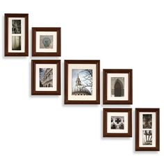 Create-a-Gallery Portrait 7-Piece Wood Frame Set - Walnut