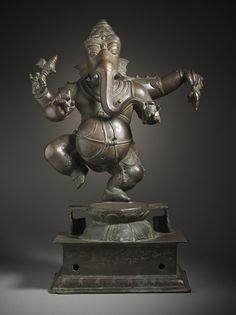 Dancing Ganesha, Lord of Obstacles India, Karnataka, South Asia 16th-17th century