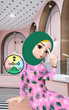 Hijab Cartoon, Ootd Fashion, Anime Girls, Have Fun, Characters, Drawings, Cute, Instagram, Figurines