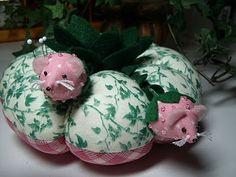 Strawberry Mice Pincushion