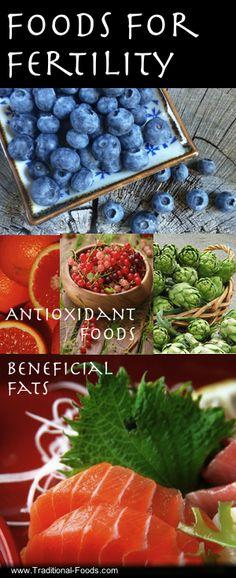 Lebensmittel , die die Fertilität erhöhen sollen. / Foods for Fertility at Traditional-Foods.com