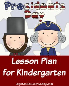 Preschool or Kindergarten Reading or Writing Activity -President Day activities for kindergarten. Fun Book and Activity for Kindergarten students to do on President's Day