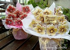 Pretty cookie bouquet