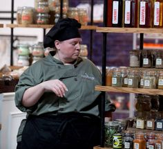 Chef Debbie searches for the perfect ingredients in our Chopped Canada pantry.