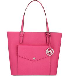 MICHAEL MICHAEL KORS Jet Set large Saffiano leather tote (Raspberry