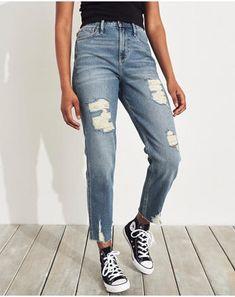 Dames Denim short met ultrahoge taille | Dames Broeken