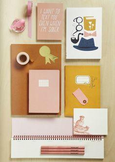 Ooh a Mark's Scrapaholic notebook! https://omoionline.com/shop/marks-scrapaholic-scrap-a5-notebook/ (On http://www.decor8blog.com, Inspiring Views From 91 Magazine. )
