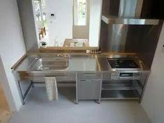 Dirty Kitchen, New Kitchen, Kitchen Ideas, Plano Hotel, Polished Concrete Tiles, Concrete Kitchen, Commercial Kitchen, Stainless Steel Kitchen, Small Living