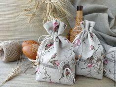 """Купить Льняной мешочек """"В гостях у бабушки"""" - мешочек льняной, мешочек для трав, мешочек для хранения"""