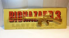 "7.5"" Hong Kong Capcom Comic BIOHAZARD 3 Last Escape Promo Assault Long Rifle Gold Metal Toy Resident Evil by MyCoffeeBoy"