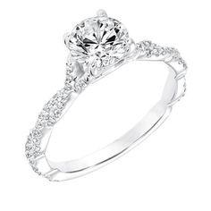 Diamond Prong Set Engagement Ring with Twisted Diamond Shank SKU: 31-11020ERW-E.01 www.cmijewelry.com