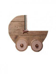 #Steigerhout #wieg #muurdecoratie   BY Huis & Grietje Diy Presents, Crates, Repurposed, Recycling, Woodworking, Baby Shower, Rustic, Toys, Wood Wood