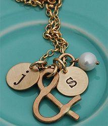 golden ampersand necklace - $78