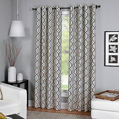 Bring depth and dimension to your windows by hanging this Creston Window Curtain Panel. A modern and chic two-tone chain link pattern instantly transforms any room into a stylish oasis. Hangs with grommets.
