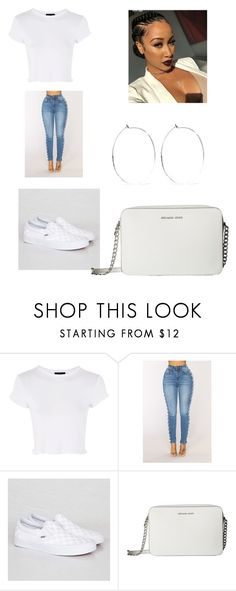 """""""Untitled #445"""" by askariwilson on Polyvore featuring Topshop, Vans, MICHAEL Michael Kors and Catbird"""