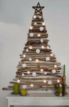 .Árboles de Navidad planos en pared