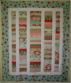 Jelly roll quilt idea