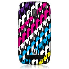 e_cell - Head Case Downward Retro Graffiti Design back Case Cover for Nokia Lumia 610