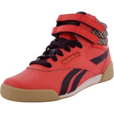 f2146c55a37 Reebok - Girls  Freestyle Hi Leather Sneaker (Little Kid) - Poppy Red Royal  Orchid