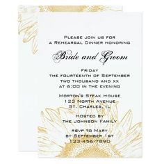 Sunflower Wedding Rehearsal Dinner Sunflower Graphic Wedding Rehearsal Dinner Invite