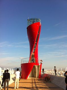 Red lighthouse, Yeosu, Korea