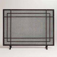 Family Room - but paint metallic  One of my favorite discoveries at WorldMarket.com: Declan Rectangle Screen