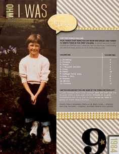 who I was by Ali Edwards #scrapbook #layout #sctmagazine