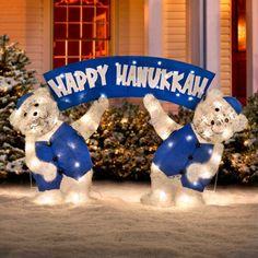 Lighted Happy Hanukkah Bears | #hanukkah #chanukkah #chanukah #decor #holiday