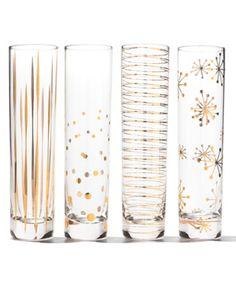 Elegant Golden Sparkle Champagne Flutes http://rstyle.me/~38SSM