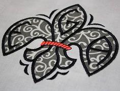 Fleur de Lis Monogram Font Set Applique Embroidery Designs