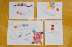 Button Crafts: Button Art & Button Cards! - Red Ted Art's Blog