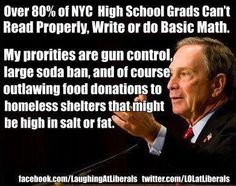 Over 80% Of NYC High School Grads Can't Read Properly, Write Or Do Basic Math...Concentrate On The Right Priorities Mr Mayor!