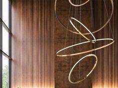 Lámpara colgante LED de metal con dimmer LOHJA by Cameron Design House