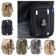 ddaeae9fe993 Xmund XD-DY4 5.5 Inch Outdoor EDC Tactical Molle Waist Bag Pack Men Cell  Phone Case Wallet Pouch Holder For iphone 8 Xiaomi Camping Hiking