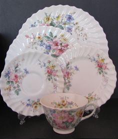 english bone china place setting - Google Search