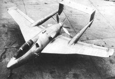 The Sud-Ouest 8000 Narval (Narwhal) was conceived as a shipboard fighter and attack aircraft. Of twin-boom configuration with a sweptback wing - 24° inboard and 13.5° outboard on the leading edge - and a tricycle undercarriage, the Narval was powered by an Arsenal 12 H-02 engine rated at 2,250hp, installed as a pusher and driving contra-rotating propellers. Armament comprised six 20mm cannon with provision for up to 1000kg of external ordnance. The first flight took place on 1 April 1949.